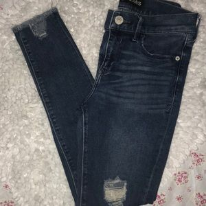 Express Ankle Legging Distressed Jeans